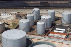 Armazenamento da refinaria Fotos de Stock Royalty Free