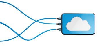 Armazenamento de computação da nuvem imagens de stock royalty free