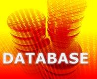 Armazenamento de dados da base de dados ilustração stock
