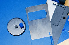 Armazenamento de disco flexível dos media Fotos de Stock Royalty Free
