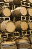 Armazenamento de tambores de vinho Fotografia de Stock Royalty Free
