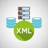 Armazenamento do base de dados da língua de Xml Foto de Stock Royalty Free