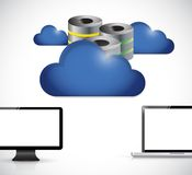 Armazenamento do servidor de computador da nuvem Fotografia de Stock Royalty Free
