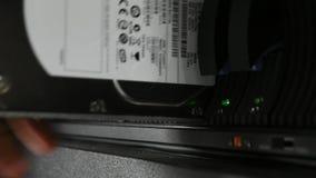 Armazenamento do servidor e da invasão, instalando o disco rígido vídeos de arquivo