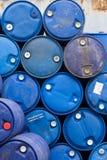 Armazenamento dos tambores de petróleo Imagem de Stock Royalty Free