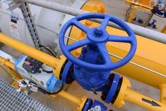 Armazenamento e encanamento de gás em Ihtiman, ot outubro de Bulgária 13, 2015 Foto de Stock Royalty Free