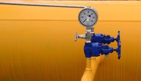 Armazenamento e encanamento de gás em Ihtiman, ot outubro de Bulgária 13, 2015 Imagem de Stock Royalty Free
