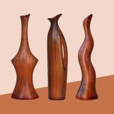 Armazenamento para líquidos e flores - três vasos antigos Fotografia de Stock Royalty Free