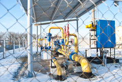 Armazenamento subterrâneo do gás, fábrica da refinaria Imagens de Stock Royalty Free