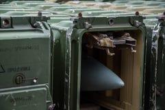 Armazenando mísseis Fotografia de Stock