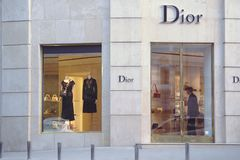 Armazene Dior no centro de Kiev imagem de stock