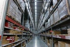 Armazene o corredor em um ramo de IKEA Bangna em Bangna mega Fotos de Stock Royalty Free