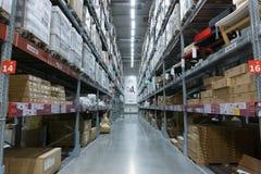 Armazene o corredor em um ramo de IKEA Bangna em Bangna mega Fotografia de Stock