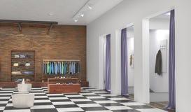 Armazene o interior ilustração 3D Fotografia de Stock Royalty Free
