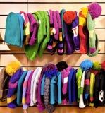 Armazene a roupa do inverno Imagens de Stock