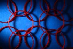 Armbänder der roten Farbe Stockfotos