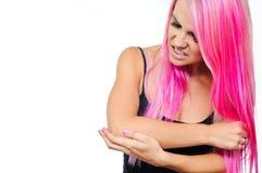 Armbågen smärtar Royaltyfri Fotografi