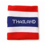 Armband med den Thailand flaggamodellen Arkivbild