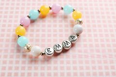 Armband met babynaam EMMA royalty-vrije stock foto's