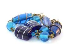 Armband met de hand gemaakt van glas Murano stock afbeelding