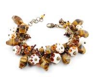 Armband met de hand gemaakt van glas Murano Stock Foto's
