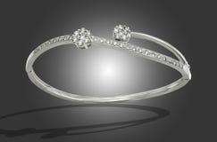 Armband met diamanten stock afbeeldingen