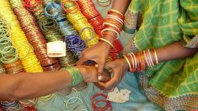 Armband Orissa, Indien Arkivfoton