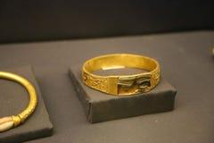 Armband - Schatz Königs Tutankhamen, ägyptisches Museum lizenzfreie stockfotografie