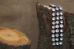 Armband som hänger på journalen Royaltyfria Bilder