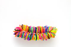 Armband van kleurrijk rubber voor het weven van regenboogweefgetouw dat wordt gemaakt Royalty-vrije Stock Foto