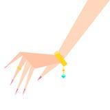 Armbandehering an Hand stock abbildung