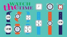 Armbandsurset Vektor Illustrationer