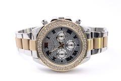 Armbanduhr auf weißem Hintergrund Lizenzfreies Stockfoto