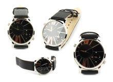 Armbanduhr getrennt auf weißem Hintergrund Lizenzfreies Stockbild