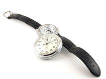 Armbanduhr und Stoppuhr Lizenzfreies Stockbild