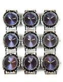 Armbanduhren auf weißem Hintergrund Stockfotos