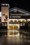 Armbrustschuetzenzelt σε Oktoberfest κατά τη διάρκεια της νύχτας στο Μόναχο, Γερμανία Στοκ Εικόνες