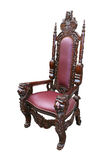 Armchair. Throne-like armchair in white background Royalty Free Stock Photos