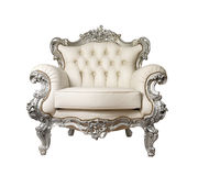 Armchair. Luxurious Armchair isolated on a white background stock photography