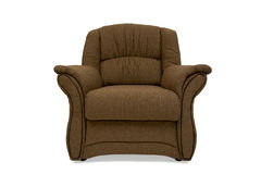 Armchair. Classic design, completely covered with quality brown textile Royalty Free Stock Photography
