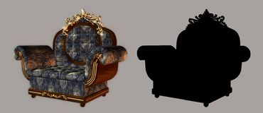 Armchair. Digital figure for your creations Stock Images
