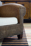 Armchair. Detail of stylish rattan armchair Stock Images