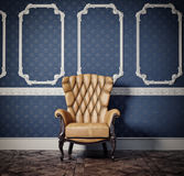 Armchair. Interior scene with vintage armchair Royalty Free Stock Photos