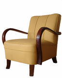 Armchair. From 1930. Renovated with new leather. German design and production Stock Image