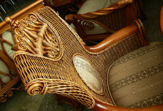 Armchair. Wicker armchair Royalty Free Stock Images
