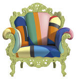 Armchair with abstract colors Royalty Free Stock Images