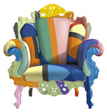 Armchair with abstract colors vector illustration