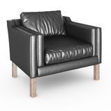 Armchair black leather Royalty Free Stock Images