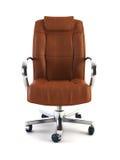 Armchair for boss 3d rendering Stock Photos