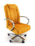 Armchair for boss 3d rendering Stock Images